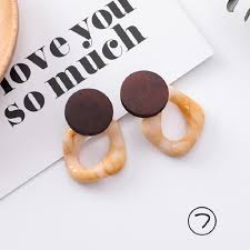 MINGQI Simple Caramel color Acetate Fashion Geometric <b>Leopard</b> ...