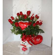TWO DOZEN <b>RED ROSES</b>, A <b>BEAR</b>, AND YOUR HEART! in ...