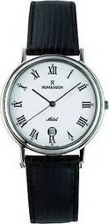 Мужские <b>часы Romanson</b> Leather <b>TL0162SMW</b>(<b>WH</b>)