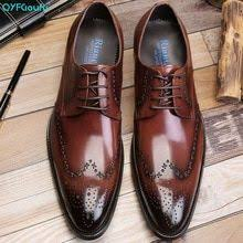 <b>QYFCIOUFU</b> High Quality Pointed Toe Brogue <b>Shoes Men's</b> British ...