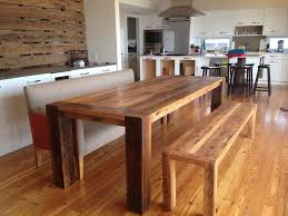 Dining Room Tables With Bench Real Wood Dining Room Sets Home Interior Design Ideas
