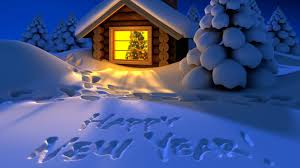 Download Happy new year HD wallpaper snow