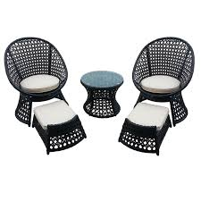 fisher patio furniture tuscany collection picture of vienna  piece wicker chair and ottoman set