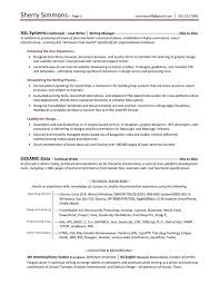Resume Format Technical Writing Format For Writing Resume