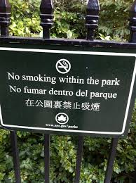 smoke outdoor air no smoke org no smoking in the park