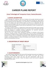 career plan report auto