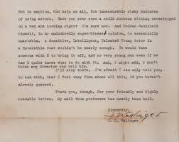 letter from j d salinger explains why catcher in the rye jd salinger catcher in the rye letter rejection