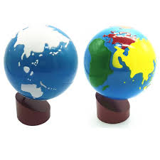 <b>Baby Toys Montessori</b> Earth Globe Plastic and Wood <b>Material</b> Learn ...