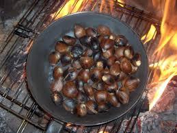 Resultado de imagen de imagenes de sartenes para asar castañas