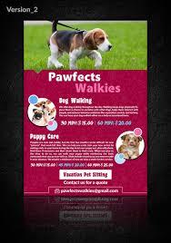 design a flyer for dog walking company lancer 13 for design a flyer for dog walking company by purppledesigns