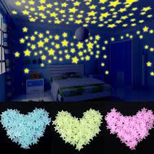 <b>100pcs 3D Stars Glow</b> In The Dark Wall Stickers Luminous ...