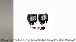"2x Arsenal 3"" 18w + FREE HAT Light Bar <b>LED</b> Cree Spot Flood ..."