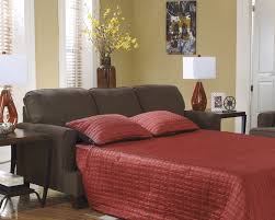 living room mattress: adorable queen size sleeper sofa with red blanket mattress ideas and black sofa plus black wooden side table together with vase flower in living room decor
