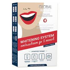 Система для <b>отбеливания</b> зубов `<b>GLOBAL WHITE</b>` <b>отбеливает</b> ...