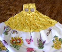 kitchen crocheted hand towel holder
