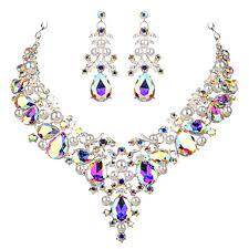 Women's Clear White <b>AAA</b> Cubic <b>Zirconia</b> Collar Necklace ...