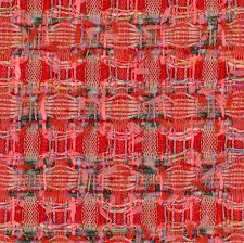 L30298 - <b>Red</b> and Pink Textured <b>Honeycomb</b> Fabric - Linton ...
