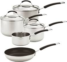 Meyer - Induction - <b>5</b>-<b>Piece Stainless Steel</b> Cookware Set - Oven and...