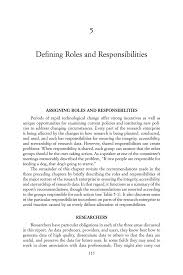 5 defining roles and responsibilities ensuring the integrity page 115