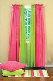 sheer curtains for girls rooms lime green hot pink sheer curtains bedroom window treatments drapes id want to do blue instead of green beamsderfer bright green office