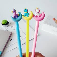 <b>36 Pcs</b>/<b>Lot</b> Color Moon & <b>Unicorn</b> Gel Pen 0.5mm Roller <b>Ball</b> Pen ...
