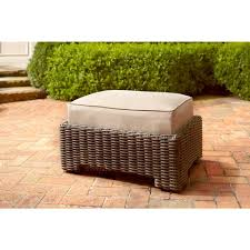 northshore patio ottoman with harvest cushion stock brown jordan northshore patio furniture