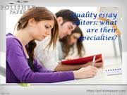 english essay editors how they edit an essay authorstream quality essay editors what are their specialties