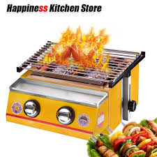 Itop <b>Commercial Household</b> 2 Burners Gas BBQ Grill Glass ...