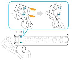 Повторное крепление <b>фиксатора кабеля</b> шлема к задней накладке