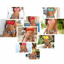 large Size <b>Striped Patchwork</b> 2019 <b>Women</b> Push up <b>Swimsuits</b> ...