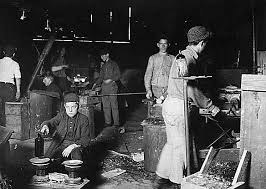 Image result for steel workers in the 19th century