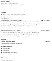 order chronological resume