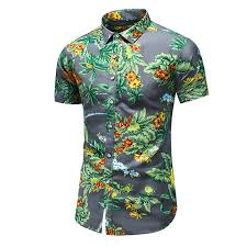 <b>Mens Summer Simple</b> Casual Shirt <b>Personality</b> Print Shirt Square ...