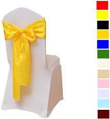 Fvstar <b>25pcs Chair</b> Ribbons Bows Satin Wedding <b>Chair</b> Bows ...