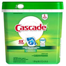 Cascade ActionPacs Fresh <b>Scent</b> Dishwasher Detergent, <b>105</b> ct ...