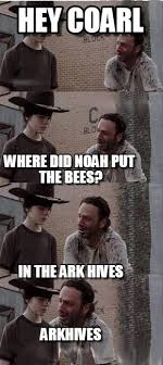 Hey Coarl - Carl Walking Dead meme on Memegen via Relatably.com