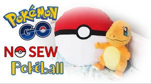 Pokemon Bedroom Decor Diy Pokeball Pillow No Sew Youtube