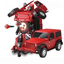<b>Робот трансформер</b> Jeep Rubicon Red - MZ-2329PF   роботы с ...