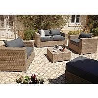 Borneo Light Brown <b>5 Piece Garden</b> Sofa Set | Outdoor & Garden ...