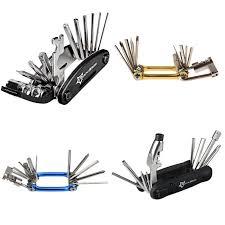 rockbros mini repair pocket folding tool 11 in 1 bicycle mountain road bike set cycling multi tools kit