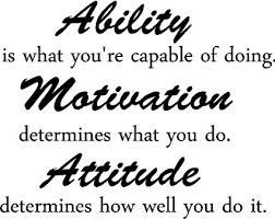 Amazon.com : Ability is what you're capable of doing. Motivation ...