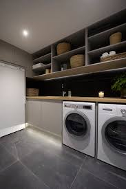 the block triple threat wk 4 l cellar laundry powder room bright modern laundry room