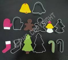<b>7PCS Cookie Cutter</b> Xmas Cake Mold Metal Sugarcraft Biscuit Jelly ...