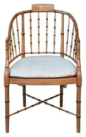 baker furniture company 1960s 1970s regency style faux bamboo arm chair bamboo company furniture