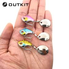 OUTKIT New Arrival <b>Metal Mini VIB With</b> Spoon Fishing Lure 9.5g ...