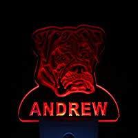 ws1057-tm <b>Boxer</b> Dog Personalized <b>Night</b> Light Name Day/<b>Night</b> ...