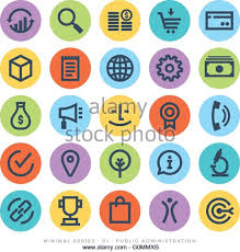 business administration consumerism urban life concepts on circular buttons on white background business life concepts