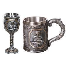 1Pcs <b>304 Stainless Steel</b> Skull <b>Coffee</b> Mug Viking Skull Beer Steins ...