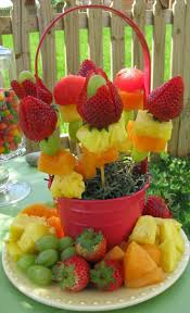 17 best images about fruit vegetable art kabobs easter fruit basket great for those easter get to gethers or a birthday party just make your fruit kebob skewers and insert them into a basket or bucket
