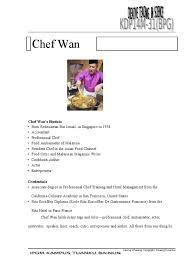 chef wan s biodata born redzuawan bin ismail in singapore chef wan s biodata born redzuawan bin ismail in singapore chef foods
